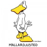 Mallardjusted by John Baron humorous chiropractor podiatrist gift idea. The ducks feet are backwards