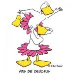 Pas De Deucks by John Baron humorous ballet dancer duet gift idea design.