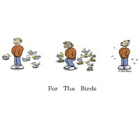 For The Birds by John Baron humorous training seagulls with fart gift idea.