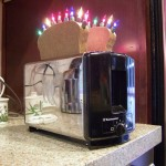The Number One, toaster art by John Baron. Up cycle toaster has nightlights as kitchen artwork.