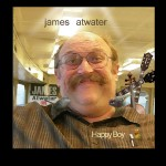 CD album cover desing by John Baron for local; artist Jim Atwater famous musician is portrayed with guitars and little birds