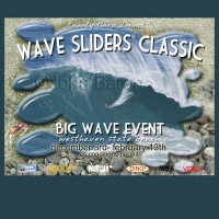 Poster design by John Baron for big wave surfing event