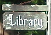 Cannon Beach Library sign