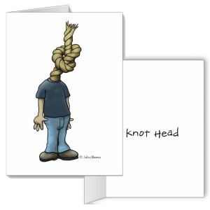 knot head greeting card image from DuckTales by John Baron